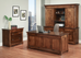 File Cabinet, Executive Desk, & Credenza with Hutch