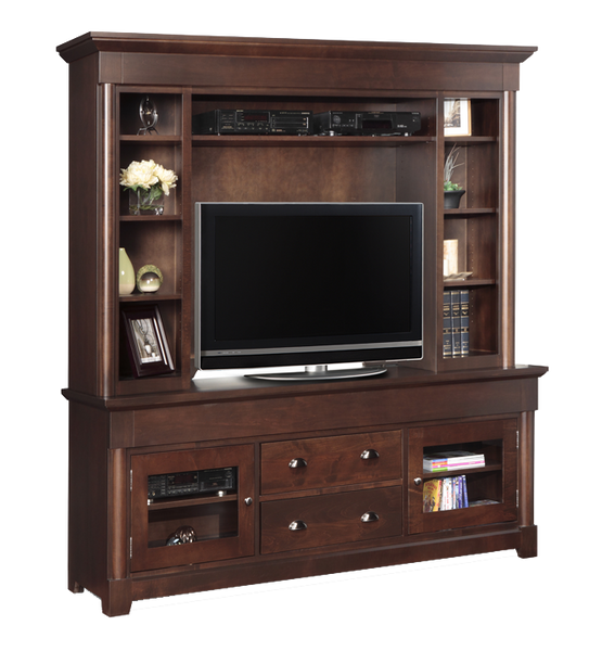"Hudson Valley 76"" TV Console with Hutch"