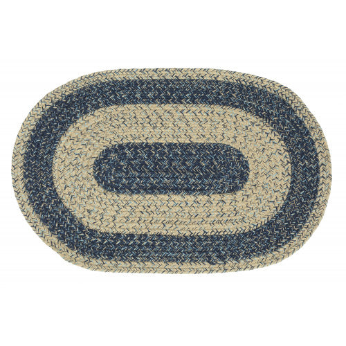 "Braided Jute Oval Rug 30""x50"""