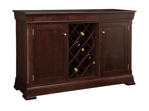 Kensington 3 Drawer 2 Door Sideboard with Wine Rack