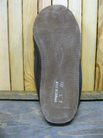 Men's Suede Fleece Lined Moccasin in Fudge