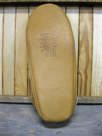 Men's Suede Padded Moccasins in Dark Tan