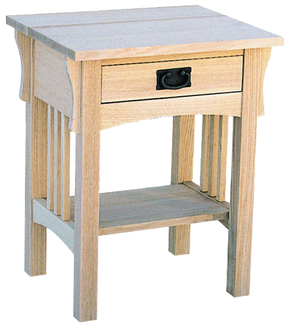 Mission 1 Drawer Telephone Table