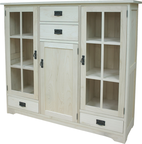 Mission 3 Door 4 Drawer Bookcase