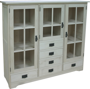 Mission 3 Door 6 Drawer Bookcase