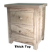 Rough Cut Metro 2 Drawer Nightstand
