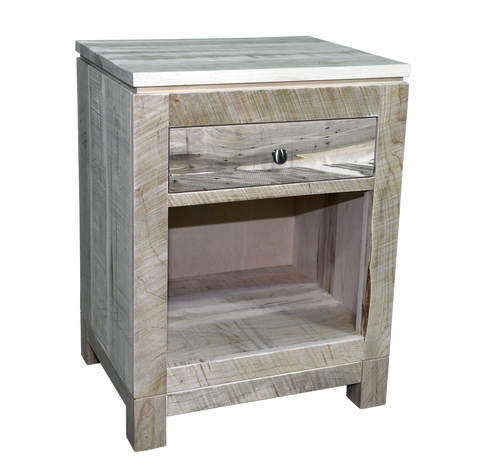 Rough Cut Metro 1 Drawer Open Nightstand