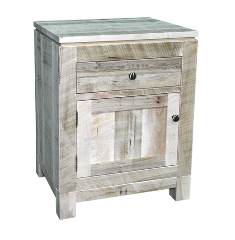 Rough Cut Metro 1 Door 1 Drawer Nightstand