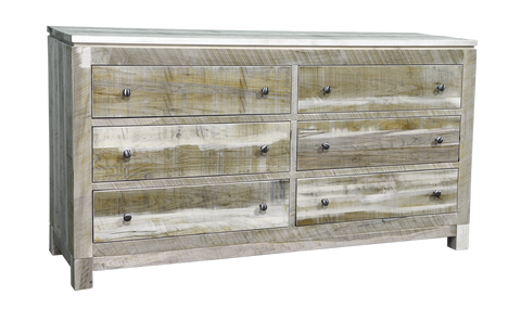 Rough Cut Metro 6 Drawer Dresser