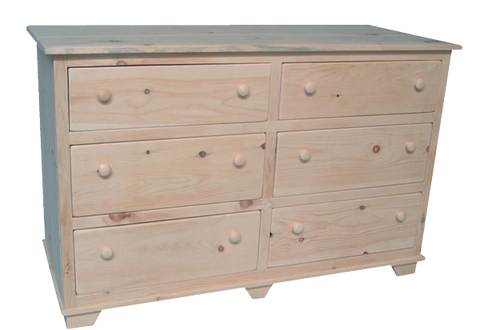 Nith River Rustic 6 Drawer Dresser