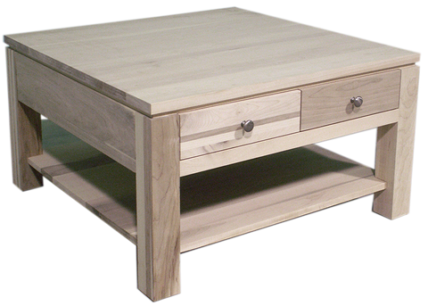 Newport 4 Drawer Square Coffee Table