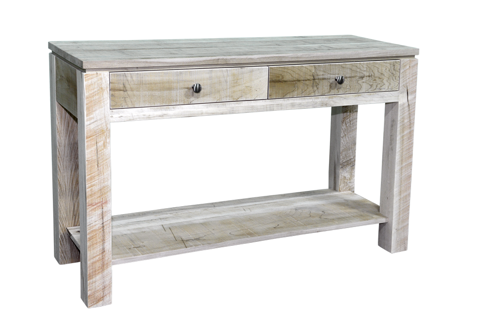 Rough Cut Metro 2 Drawer Sofa Table