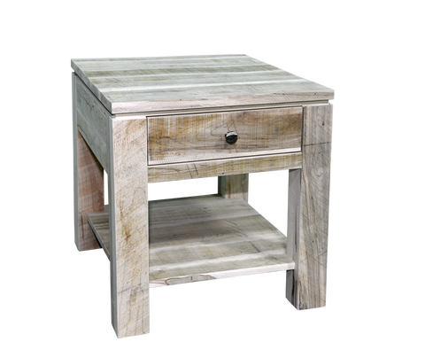 Rough Cut Metro 1 Drawer End Table