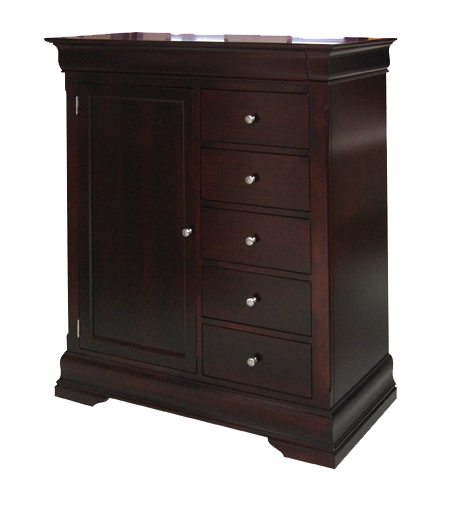 Phillipe 6 Drawer 1 Door Gentleman's Chest