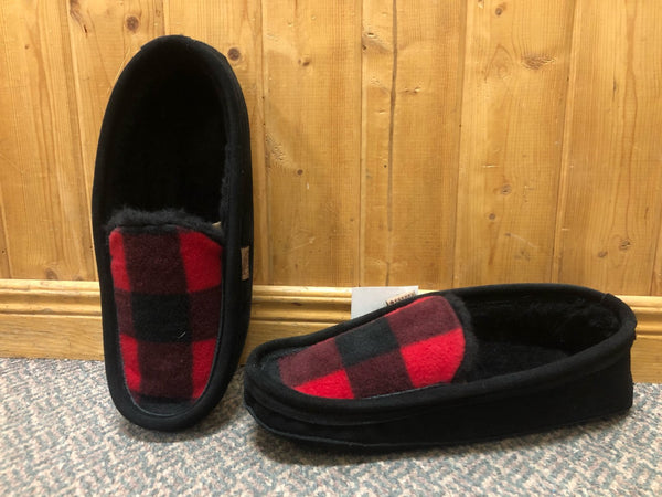 Slipper Lined Black Plaid