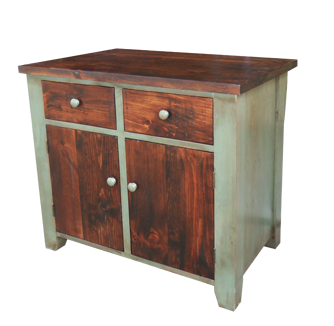 Dakota Rough Cut 2 Door Island Sideboard