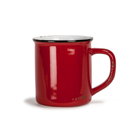 Enamel Look Ceramic Mug - Red