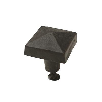 Rustic Cast Iron - Large Square Knob