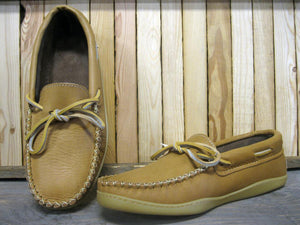 Men's Moose Hide Natural Moccasin with Gum Sole