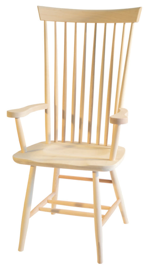 Shaker High Back Arm Chair
