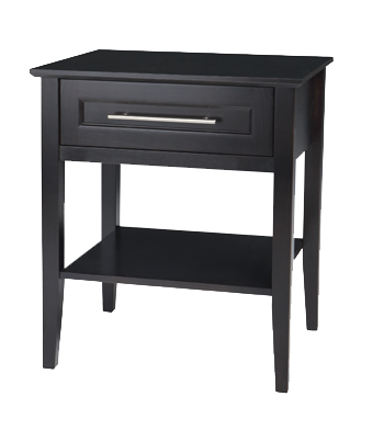 Stockholm 1 Drawer Open Nightstand