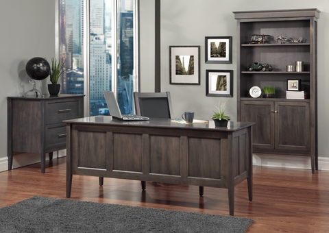 File Cabinet, Executive Desk, & Bookcase with Doors