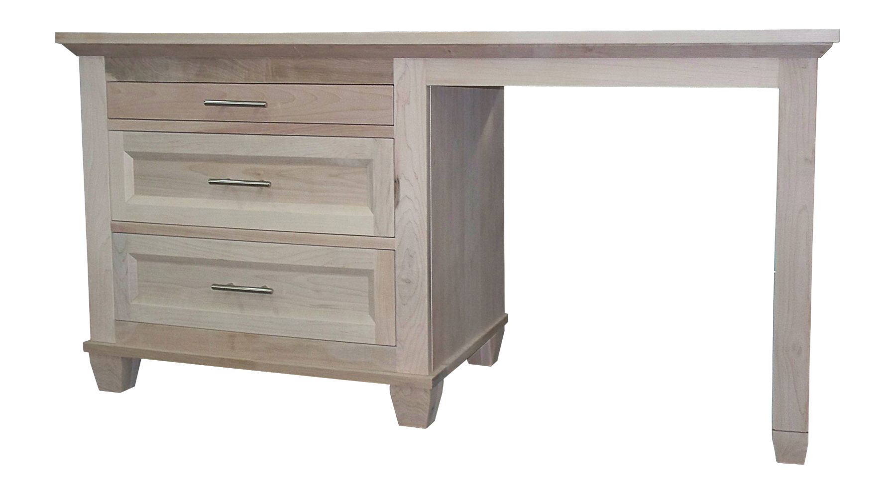 Algonquin Student desk in unfinished Brown Maple