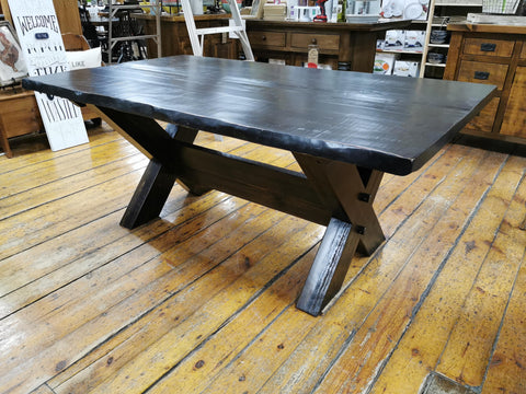 Rustic X Bottom Table