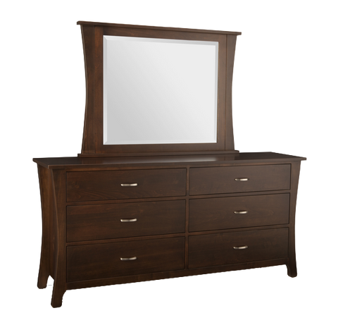 Yorkshire 6 Drawer Long Double Dresser