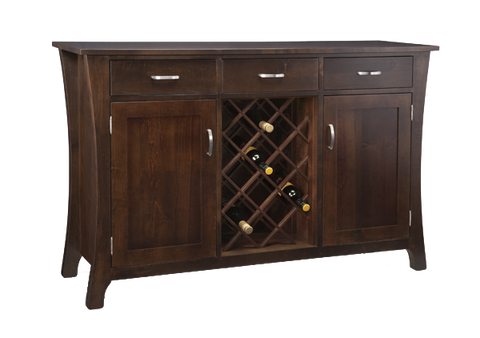 Yorkshire 3 Drawer 2 Door Sideboard with Wine Rack