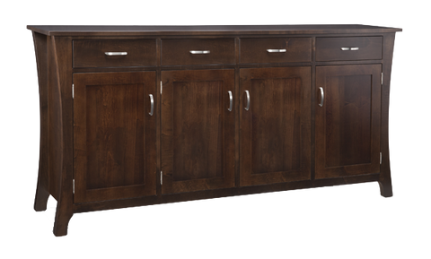 Yorkshire 4 Drawer 4 Door Sideboard