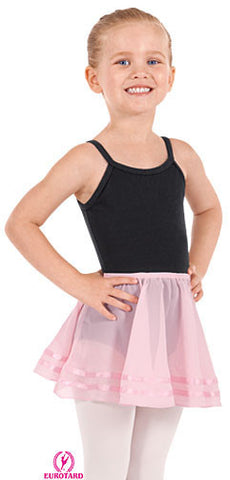 Child Ciffon Pull-On Skirt w/Double Satin Ribbon Trim (02174)