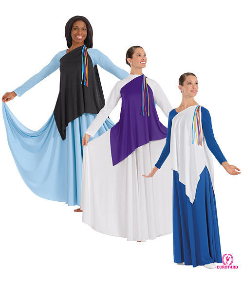 Adult Asymmetrical Streamer Tunic (13844)