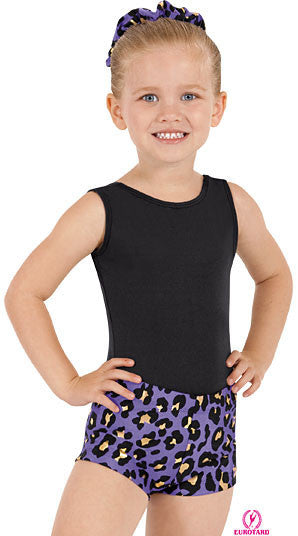 purple cheetah child shorts