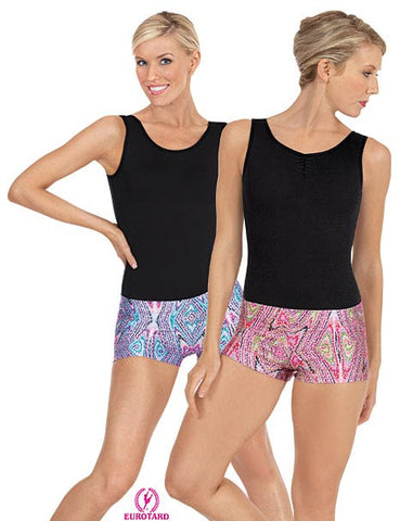 Adult Printed Sequin & Kaleidoscope Design Booty Shorts (23535)