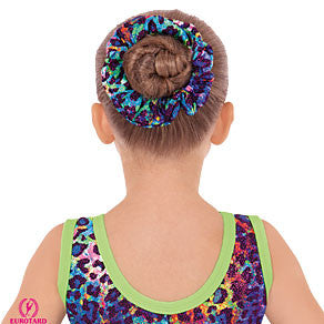 Multi Color Leopard Print Scrunchie (31172)