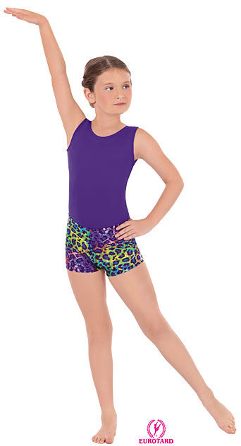 Child Disco Leopard Booty Shorts (31535c)