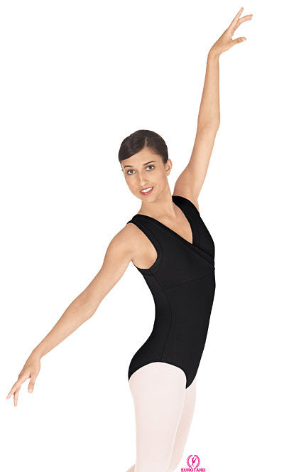 Adult Tactel Wrap Front Tank Leotard (33794)