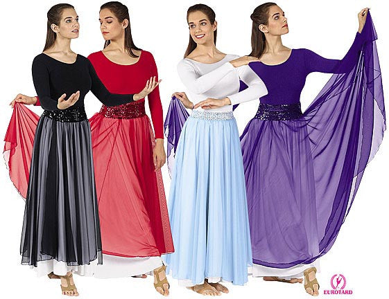 Plus Size Overlay Skirt (39746p)