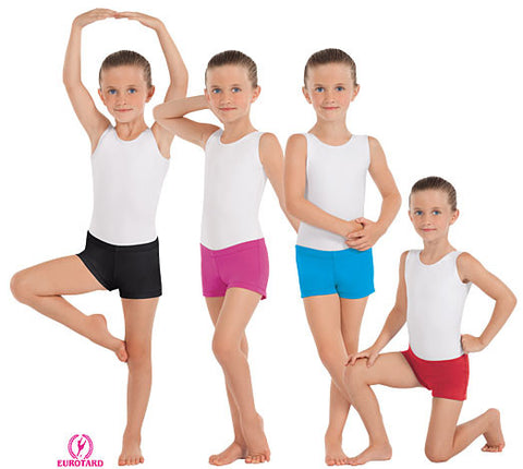Child Microfiber Straight Front Booty Shorts (44335c)