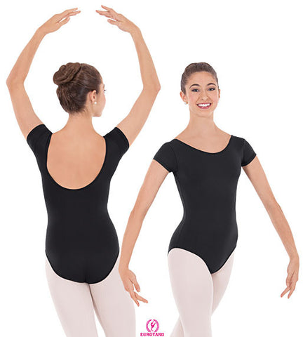 Adult Low Back Cap Sleeve Leotard (44525)