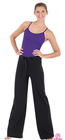 Adult Cotton Fitted Hip, Wide Leg Pants w/Drawstring Waist (46435)