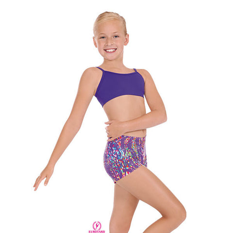 Child Multi Color Print & Sparkle Booty Shorts (47535c)
