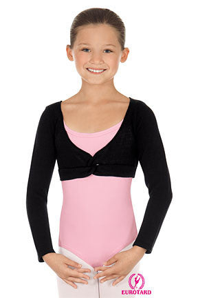 Child Pull Over Twist Front Crop Sweatern (72519c)