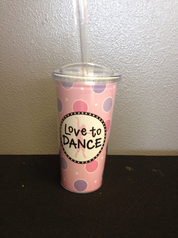 Dancer Insulated Tumbler w/Straw