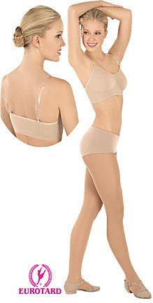 Adult Comfort Fit Bra w/Removable, Adjustable Matching & Clear Shoulder Straps (95620)