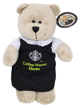 Starbucks Macau Coffee Master Bearista Bear with Black Apron