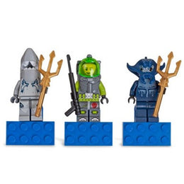 Lego Atlantis Magnet Set of 3 - Shark, Lance, Manta Warrior