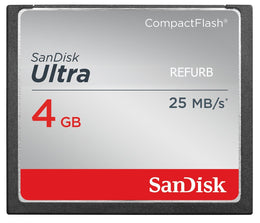 SanDisk ULTRA 4GB CompactFlash CF Card 25MB/s- SDCFHS-004G-G46 (Certified Refurbished)