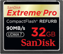 SanDisk Extreme PRO 32GB CompactFlash Memory Card UDMA 7 Speed Up To 90MB/s- SDCFXP-032G-X46 (Certified Refurbished)